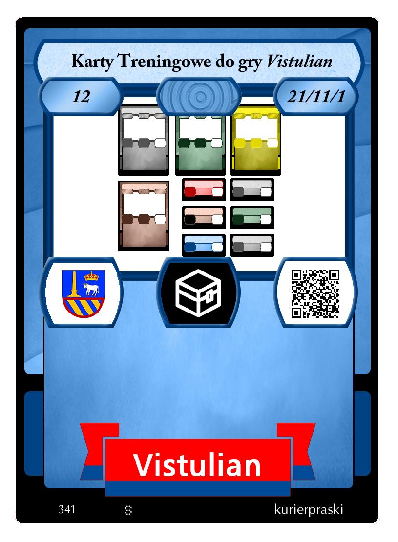 Karty Treningowe do gry <i>Vistulian</i>